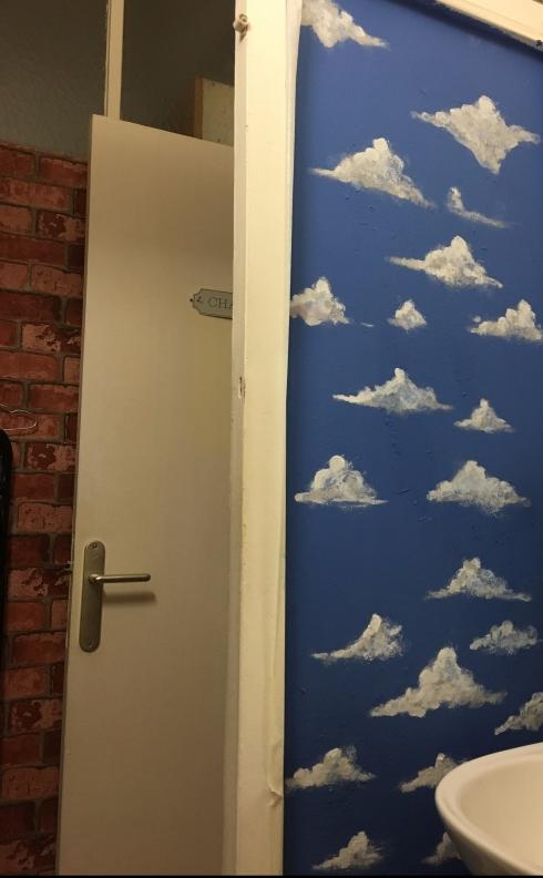 cloudy bathroom